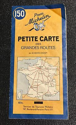 Michelin Map - Petite Carte des Grandes Routes WW2  France French