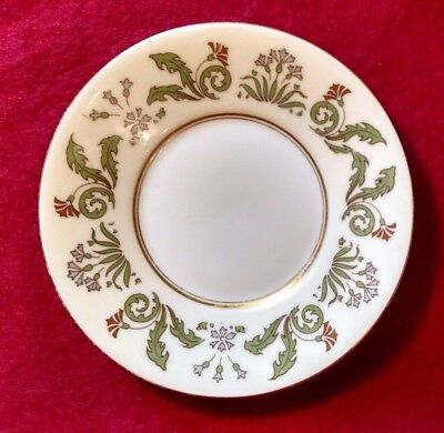 T&V Limoges, Hand Painted 5 1/2 in plate, early 1900's, flower design, vintage
