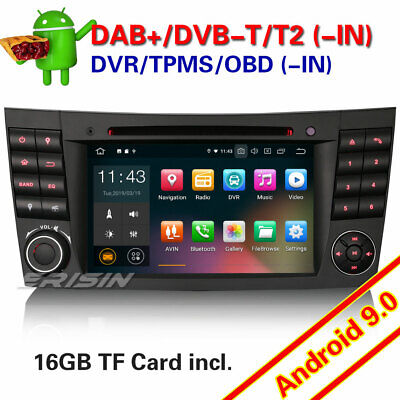 Android 9.0 DAB+ Mercedes Benz Classe E/CLS/G W211 GPS CD WiFi USB TNT Autoradio
