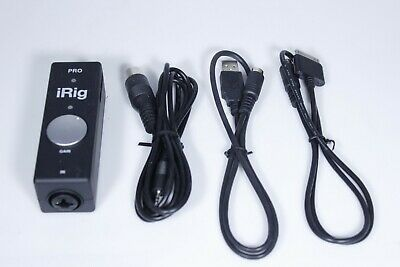 IK MULTIMEDIA iRIG PRO UNIVERSAL AUDIO/MIDI INTERFACE FOR iPHONE/iPOD TOUCH/iPAD