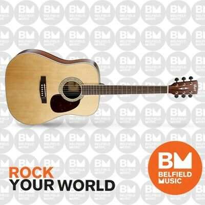 Cort Earth 100 Acoustic Guitar Satin Natural Dreadnought - Brand New