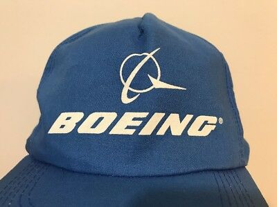 3a44dad3f81dd9 Boeing Logo Cap Hat Adult One Size Blue White Embroidered Salt Lake City