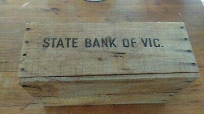 State Bank of Victoria Coin Box