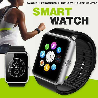 GT08 Q18 Bluetooth Smart Watch For Android iOS iPhone Apple GSM GPRS SIM UK