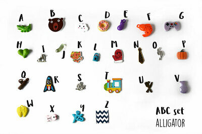 ABC trinkets by TomToy Alphabet I spy, 1-3cm, 1/3/5 objects per letter