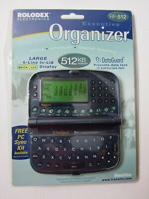 NEW Rolodex Executive Electronic Organizer RF 512 FREE Shipping