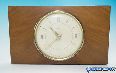 Vintage Mid Century Made In Britain Smiths Wind Up Mantle Clock