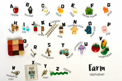 Theme ABC trinkets by TomToy Language objects, 1-3cm, 26 objects