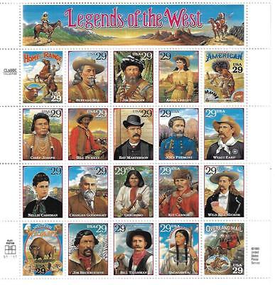 Us Scott 2869 Legends Of The West 29 Cent Face Mnh
