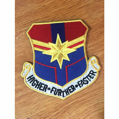 Captain Marvel Patches Embroidery Iron On DIY Sticker Cosplay Patch For Cloth