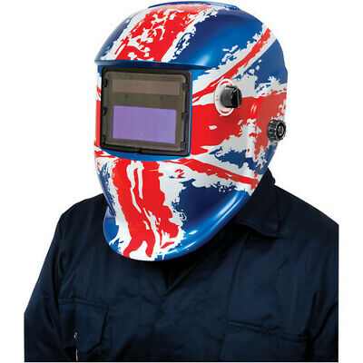 Clarke GWH7 Arc Activated Grinding/Welding Headshield Union Flag Design