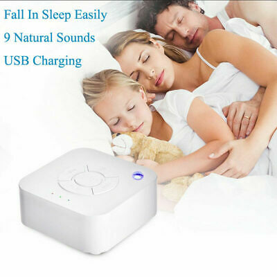 USB White Noise Therapy Sleep Soothing Relax Machine 9 Nature Sounds Sleep Aid