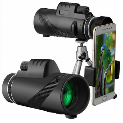 40x60 HD Monocular Dual Focus Optics Zoom Telescope+Tripod+Holder For Phone AU