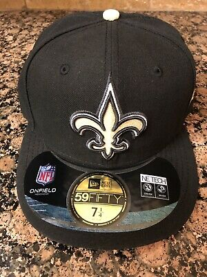 huge selection of f0e5a cd905 NWT NFL New Orleans Saints Fitted New Era 5950 59fifty On-field Hat Cap 7