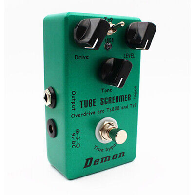 Hand-made TS9 TS808 Overdrive/Distortion Tube Screamer 2 In 1 True Bypass Switch