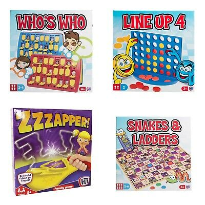 LINE UP 4/ Who's Who / Snakes & ladders /zzapper GAMES for FAMILY & CHILDREN