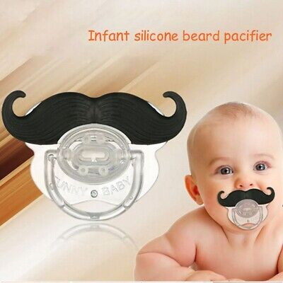 Infant Pacifier Funny Silicone Orthodontic Nipples Dummy Mustache Beard Mouth