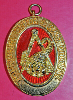 Yorkshire North & East Ridings Past Provincial Grand Steward collar jewel masons