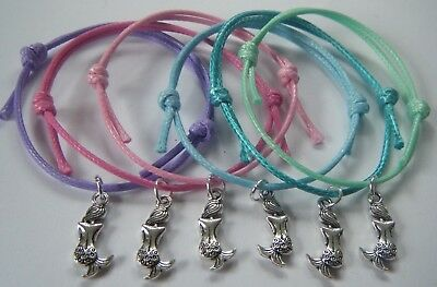 6 Mermaid Party Bag Gift Fillers Friendship Bracelets Hen Gifts Wedding Favours