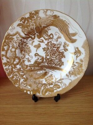 ROYAL CROWN DERBY 'Gold Aves' Cabinet Plate, Derby County Borough Council Ex con