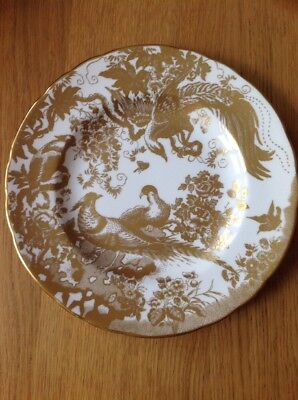 ROYAL CROWN DERBY 'Gold Aves' Dessert/Salad Plate, Excellent Condition 1978 1st