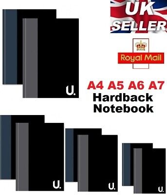 A4 / A5 / A6 / A7 Hardback Lined Page Pad Notepad Note Pad Notebook Book