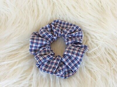 School Checkered Cotton Scrunchie /Pony Tail Holder/ Hair Ring
