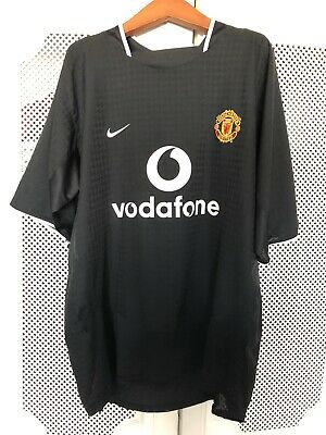 cd47b457001 Nike Manchester United Football Club Soccer Black Vodafone Jersey Size XL