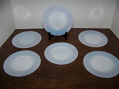 """VNTG Petalware Monax  McBeth-Evans BREAD & BUTTER PLATES x6 ringed 6.5"""" DISHES"""