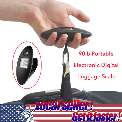 90lb Portable Electronic Digital Luggage Scale - Black | Brand New P2