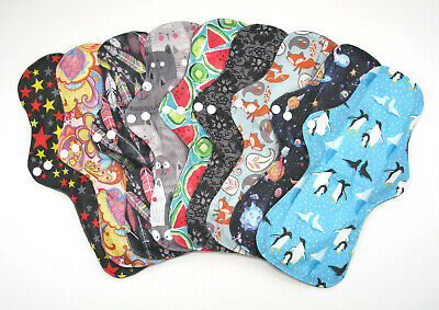 SETS OF 3 & 5 Reusable Charcoal Heavy Flow / Night / Maternity Sanitary Pad NEW!
