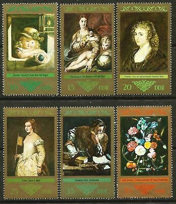 Germany (East) DDR GDR 1973 MNH Art Paintings by Old Masters Rubens Titian