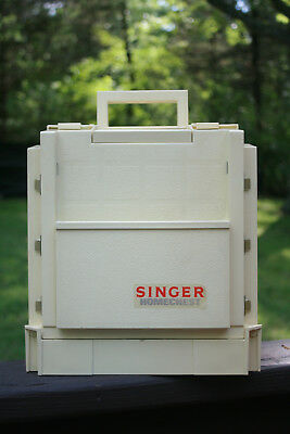 "Sewing Craft Caddy Storage Singer Homechest  Fold-up 1983 11"" x 10"" Nice!"