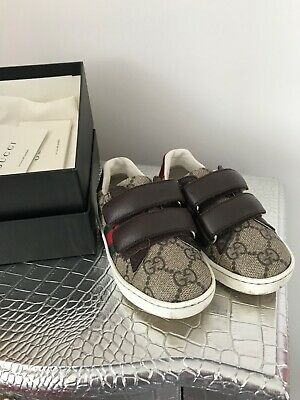 13f4fc455 boys gucci velcro trainers size eu 23, uk infant 6 comes with box and dust