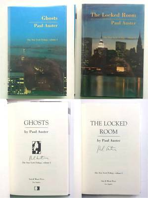 """SIGNED Paul Auster NEW YORK TRILOGY """"Locked Room"""" & """"Ghosts"""" FINE First Editions"""