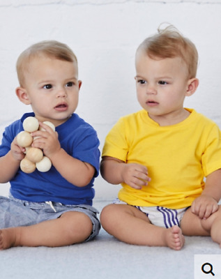 Tshirts T-Shirt Baby Jersey short Sleeved Colours Visible in Description