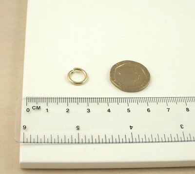 Quantity 1 X Large Extra Heavyweight Solid 9ct 375 Yellow Gold 10mm Jump Ring