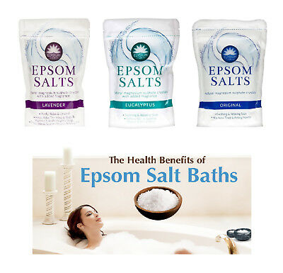 Epsom Bath Salt Natural Magnesium Sulphate Crystals Salt Elysium SPA 450 Gram