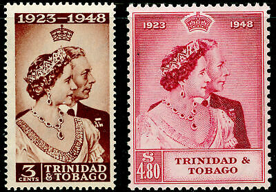 TRINIDAD AND TOBAGO SG259-260, COMPLETE SET, NH MINT. Cat £30. RSW