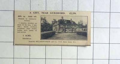 1936 Six Bedroom House On 1 Acre Near Guildford, £2250
