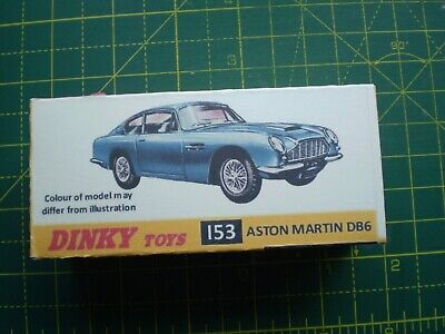 Dinky 153 Aston Martin DB6 Reproduction Repro Left Hand L//H Side Door Window