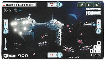 Star Wars Armada Nebulon-B Escort Frigate Alternate Art Promo Card FFG