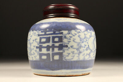 Tea Caddy Canister Teedose China Porcelain Kangxi-Era Qing-Dynasty 18-19.Jh. 1/2