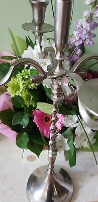 Beautiful silver plate candleabra - new in box