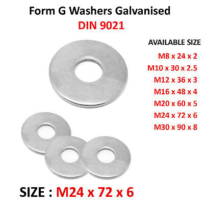 M14-14mm FORM G WASHERS A2 304 STAINLESS STEEL DIN 9021