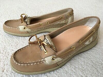 febb34f72dfd Womens Sperry Top Sider Angelfish Gold Glitter Boat Shoes 9.5 M Excellent  Clean