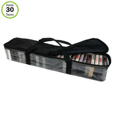 Evelots Cassette Tape Bag-Organizer-Carrier-Storage-Dust,Moisture Free-Hold 30