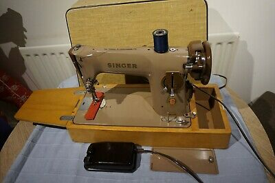 Vintage Singer 201K23 Aluminium Electric Sewing machine with case,