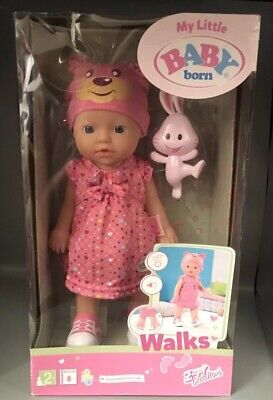 BNIB Zapf Creation My Little Baby Born Walks Baby Doll 32cm
