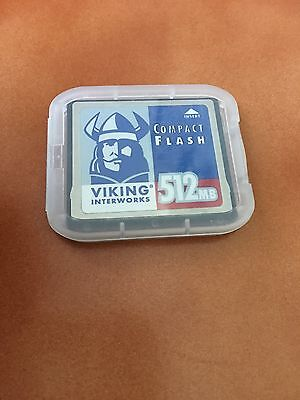 512mb Viking Compact Flash CF Memory Cards - Used/Empty